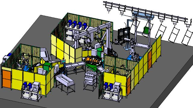 焊接机器人自动化生产线