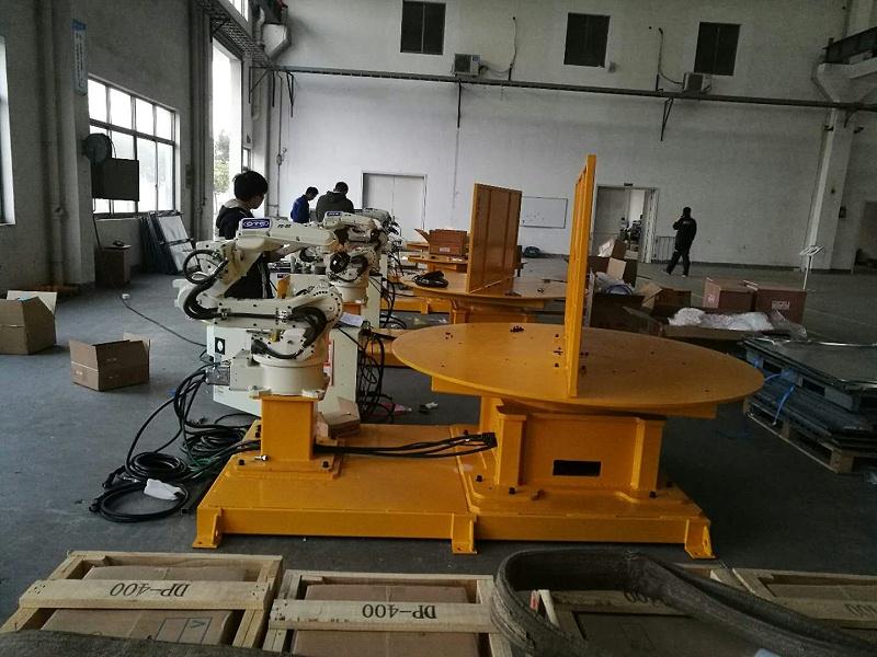 焊接机器人水平一轴工作站2