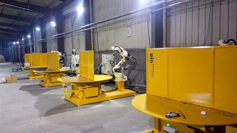 焊接机器人水平一轴工作站3
