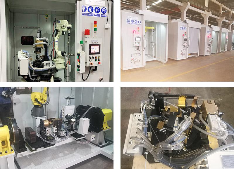 汽车零部件焊接机器人工作站案例!
