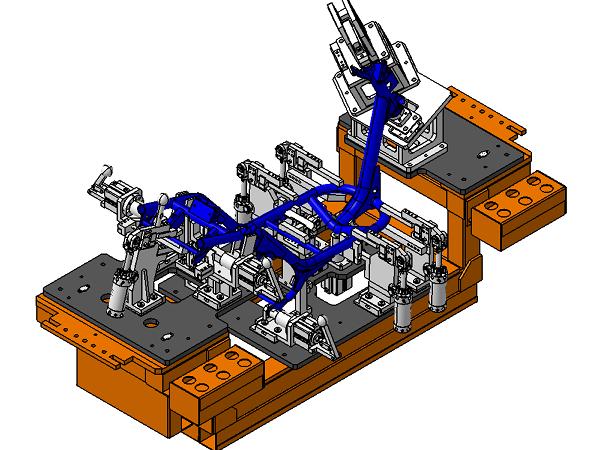 电动车架焊接夹具