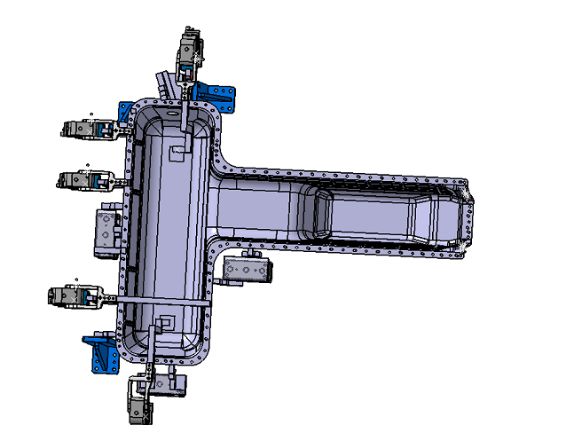 新能源汽车电池壳焊接夹具