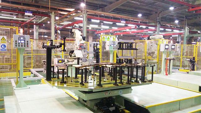 机器人点焊自动化生产线