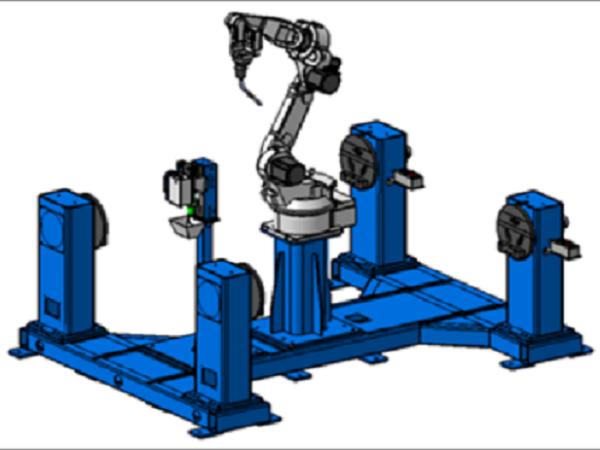 机器人垂直一轴双工位变位机